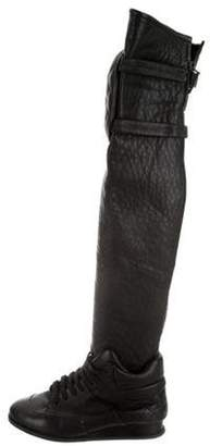 Chanel Lambskin Sneaker Over-The-Knee Boots Black Lambskin Sneaker Over-The-Knee Boots