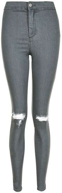 Topshop Topshop Moto grey ripped joni jeans