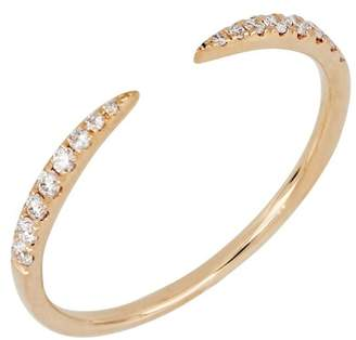 Bony Levy 18K Rose Gold Diamond Cuff Ring - 0.13 ctw