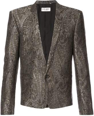 Saint Laurent short jacquard dinner jacket