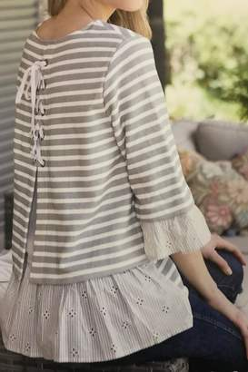Multiples Ruffled Knit Top
