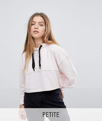 Noisy May Petite Cropped Hoodie Sweater