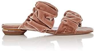 Nicholas Kirkwood Women's Courtney Velvet Slide Sandals - Blush