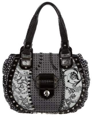 Versace Ruched Studded Tote