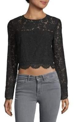Diane von Furstenberg Yeva Cropped Lace Shirt