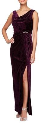 Alex Evenings Sleeveless Velvet Gown