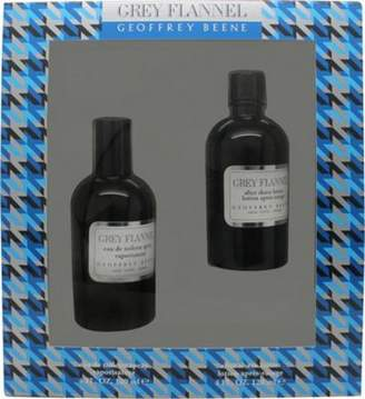 Geoffrey Beene Grey Flannel Gift Set 120mL Edt + 120mL Aftershave Lotion For Men