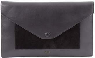 Celine Pocket Black Leather Clutch Bag