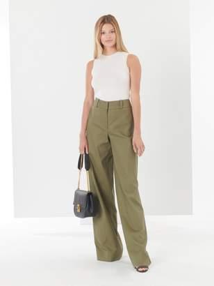 Oscar de la Renta Cotton-Twill Wide-Leg Pants