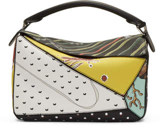 Loewe Multicolor Paulas Ibiza Edition Patchwork Puzzle Bag