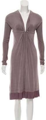 Just Cavalli Three-Quarter Sleeve Silk Dress