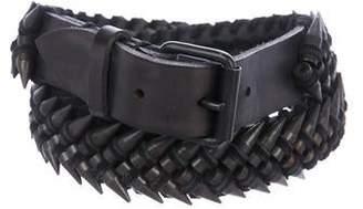 67480ae689 Balmain Studded Leather Waist Belt
