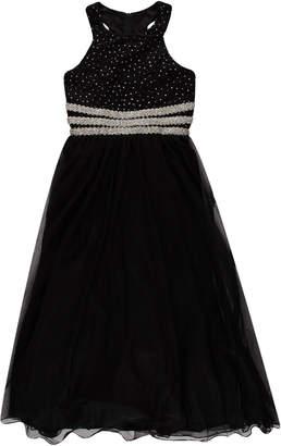 Speechless Bead-Waist Formal Maxi Dress Size 7-16