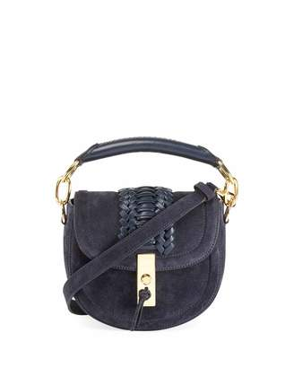 Altuzarra Mini Braided Top-Handle Saddle Bag, Blue