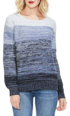 Vince Camuto Sapphire Sheen Knit Ombre Sweater
