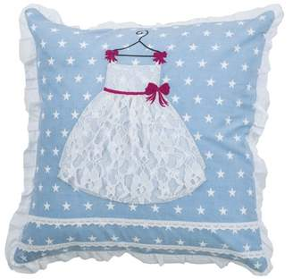 """Rizzy Home Kid's Pillow Pillow 18"""" x 18"""" in White Color"""