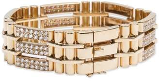 Van Cleef & Arpels Van Cleef and Arpels Diamond 18K Yellow Gold Bracelet