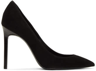 Saint Laurent Black Suede Anja Heels