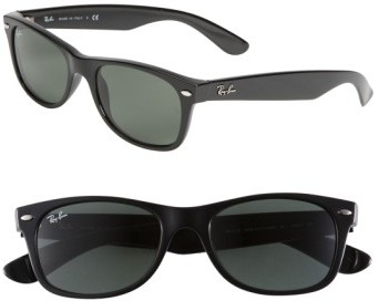 Women's Ray-Ban Small New Wayfarer 52Mm Sunglasses - Black