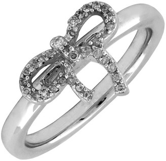 Simply Stacks Sterling & Diamond Bow Ring