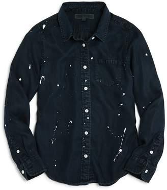 DL1961 Girls' Paint-Splattered Chambray Shirt