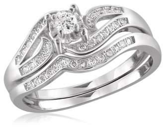 Diamonice 1/3 Carat T.W. White Cubic Zirconia Sterling Silver Ring
