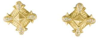 Doris Panos 18K Diamond Clip-On Earrings