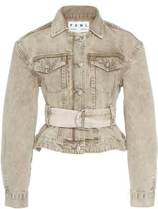 Proenza Schouler Pswl Belted Denim Jacket