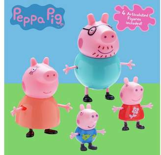 Peppa Pig Family Figures - 4 Pack
