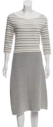 Christian Dior Long Sleeve Midi Dress