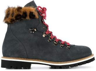Mr & Mrs Italy leopard detail ankle boots