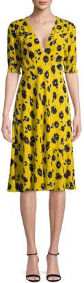 Diane von Furstenberg Floral-Print Fit--Flare Dress
