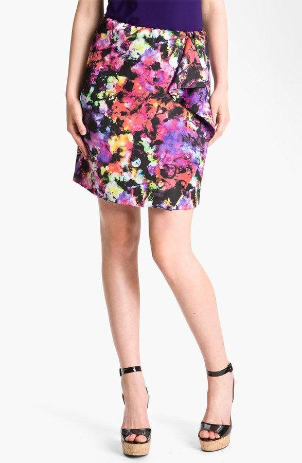Vince Camuto 'Marbled Galaxy' Print Skirt
