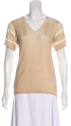 Prada Wool Short Sleeve Top