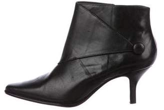 Donald J Pliner Leather Pointed-Toe Booties