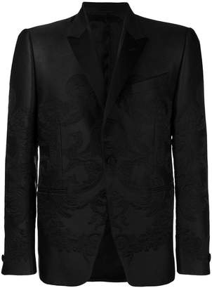 Versace embroidered single-breasted blazer