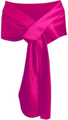 Meet Edge Women's Satin Shawl Wrap for Evening/Wedding Party