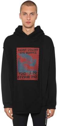 Cape Mesh Cotton Sweatshirt Hoodie