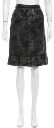 Prada Wool Knee-Length Skirt