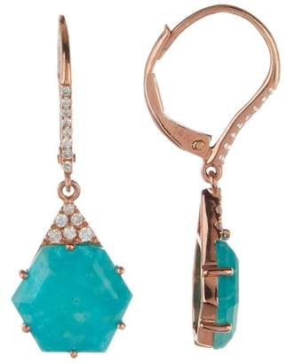 Meira T 14K Rose Gold Blue Amazonite & Diamond Drop Earrings