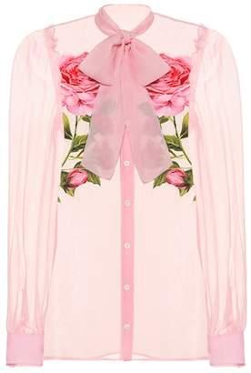 Dolce & Gabbana Floral silk chiffon shirt