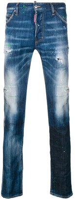 DSQUARED2 distressed regular jeans