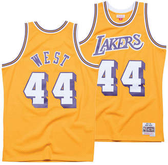 8ccb16a81758 Mitchell   Ness Men Jerry West Los Angeles Lakers Hardwood Classic Swingman  Jersey