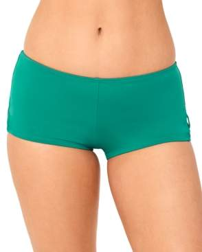 Macy's Salt + Cove Juniors' Strappy-Side Boyshort Swim Bottoms, Created for Women's Swimsuit