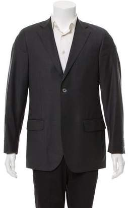 Luigi Bianchi Mantova Virgin Wool Two-Button Blazer