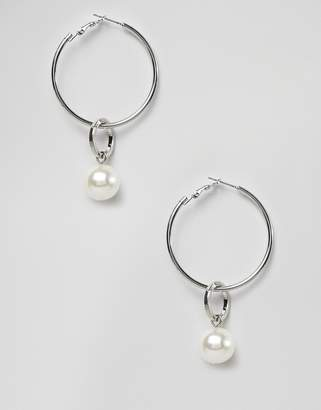 Pieces Pearl Drop Hoops