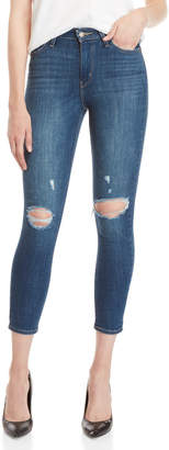Levi's Lighting Blue 721 High-Rise Ankle Skinny Jeans