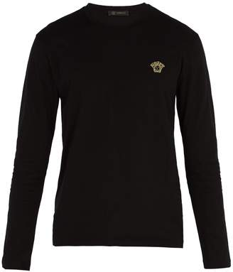 Versace Medusa long-sleeved cotton T-shirt