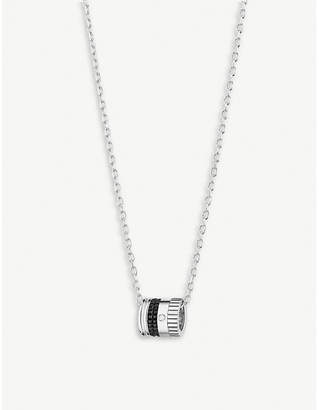 Boucheron Quatre Black Edition diamond and 18ct white-gold pendant