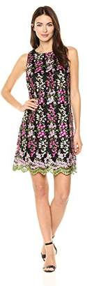 Tahari by Arthur S. Levine Women's Plus Size Sleevless Novelty Embroidery